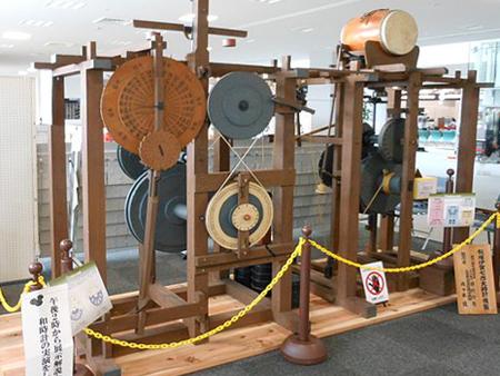 伊賀七の木製和時計(復元)